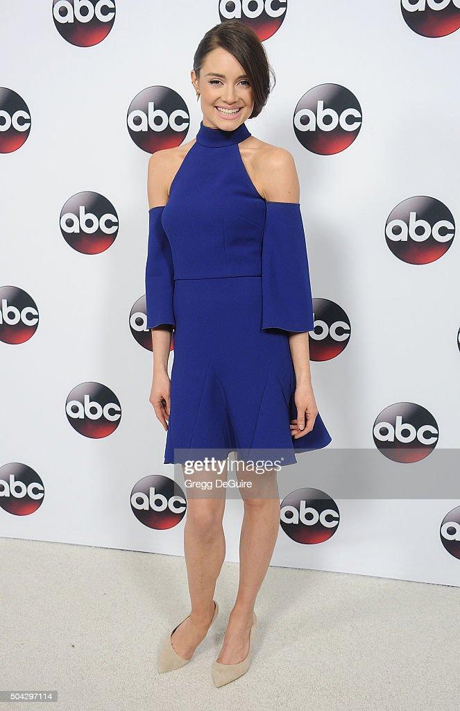 Actress Mallory Jansen arrives at the 2016 Winter TCA Tour - Disney/ABC at Langham Hotel on January 9, 2016 in Pasadena, California.