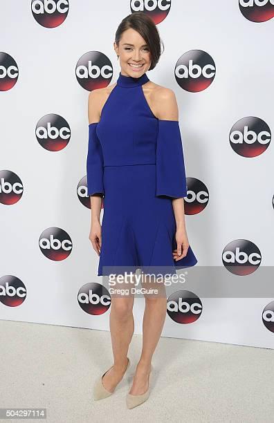 Actress Mallory Jansen arrives at the 2016 Winter TCA Tour Disney/ABC at Langham Hotel on January 9 2016 in Pasadena California