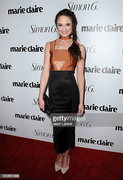 Actress Mallory Jansen attends the Marie Claire Fresh Faces party at Sunset Tower Hotel on April 11 2016 in West Hollywood California