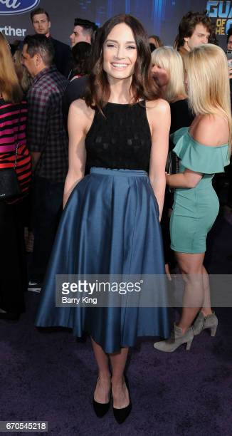 Actress Mallory Jansen attends world premiere of Disney and Marvel's' 'Guardians Of The Galaxy 2' at Dolby Theatre on April 19 2017 in Hollywood...