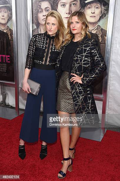 Actress Mamie Gummer and model Louisa Gummer attend the 'Suffragette' New York Premiere at The Paris Theatre on October 12 2015 in New York City