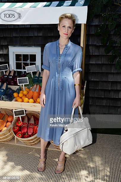 Actress Mamie Gummer attends Alessandra Facchinetti and Jessica Seinfeld's Baby Buggy Summer Luncheon sponsored by Tod's on July 24 2015 in East...