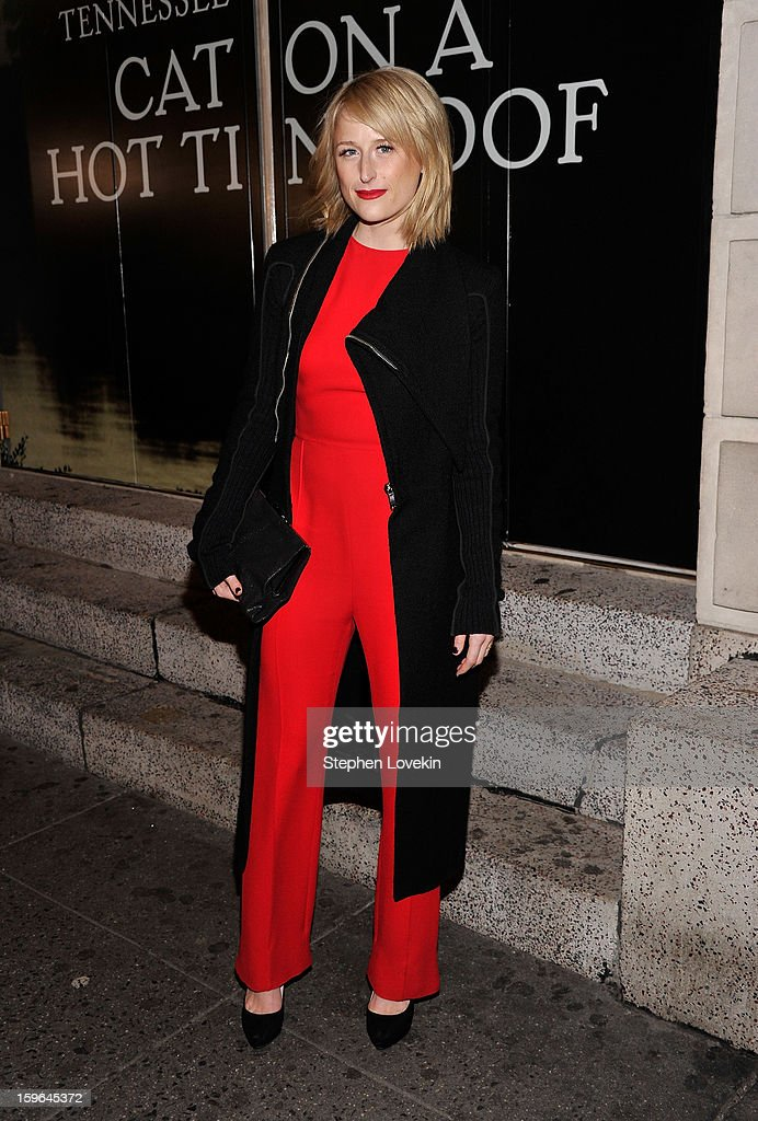 Actress Mamie Gummer attends the 'Cat On A Hot Tin Roof' Opening Night at Richard Rodgers Theatre on January 17, 2013 in New York City.