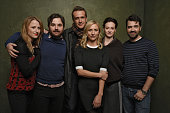 Actress Mamie Gummer director James Ponsoldt actor Jason Segel actresses Mickey Sumner Joan Cusack and actor Ron Livingston from 'The End of the...