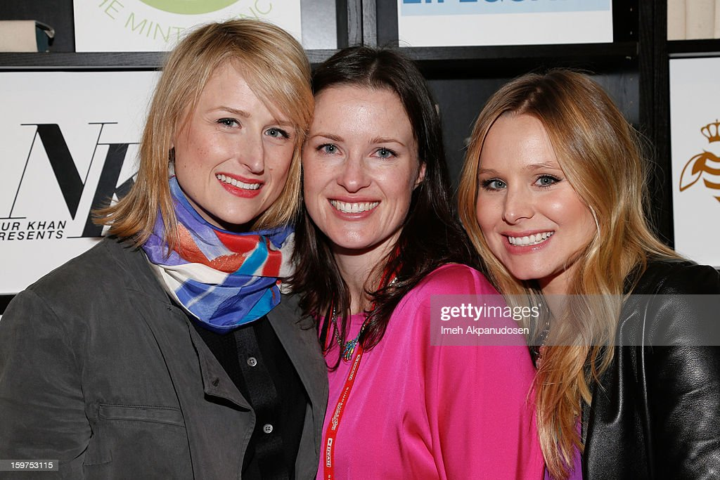 Actress <a gi-track='captionPersonalityLinkClicked' href=/galleries/search?phrase=Mamie+Gummer&family=editorial&specificpeople=805216 ng-click='$event.stopPropagation()'>Mamie Gummer</a>, director Liz W. Garcia, and <a gi-track='captionPersonalityLinkClicked' href=/galleries/search?phrase=Kristen+Bell&family=editorial&specificpeople=194764 ng-click='$event.stopPropagation()'>Kristen Bell</a> attend 'The Lifeguard' after party on January 19, 2013 in Park City, Utah.