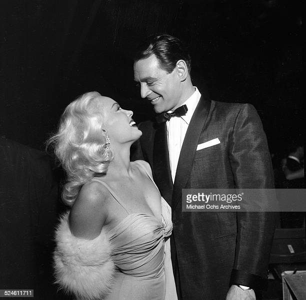 Actress Mamie Van Doren and husband Ray Anthony attend an event in Los AngelesCA