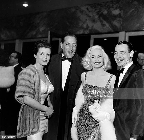 Actress Mamie Van Doren and husband Ray Anthony attend an event with friends in Los AngelesCA