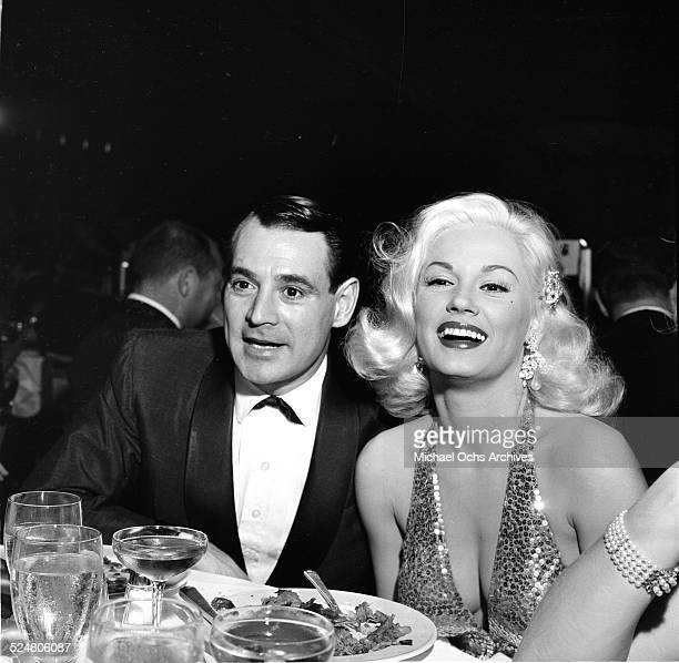 Actress Mamie Van Doren and husband Ray Anthony attend the Thalians Ball in Los AngelesCA