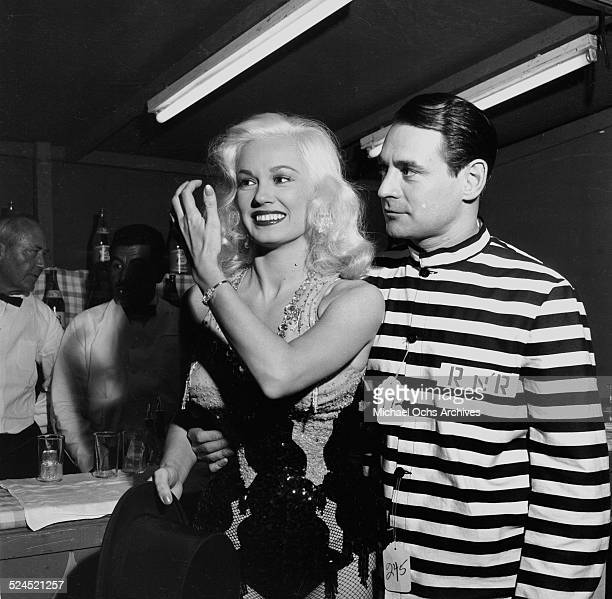 Actress Mamie Van Doren attends a Halloween Party with husband Ray Anthony in Los AngelesCA