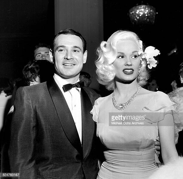 Actress Mamie Van Doren attends an event with husband Ray Anthony in Los AngelesCA
