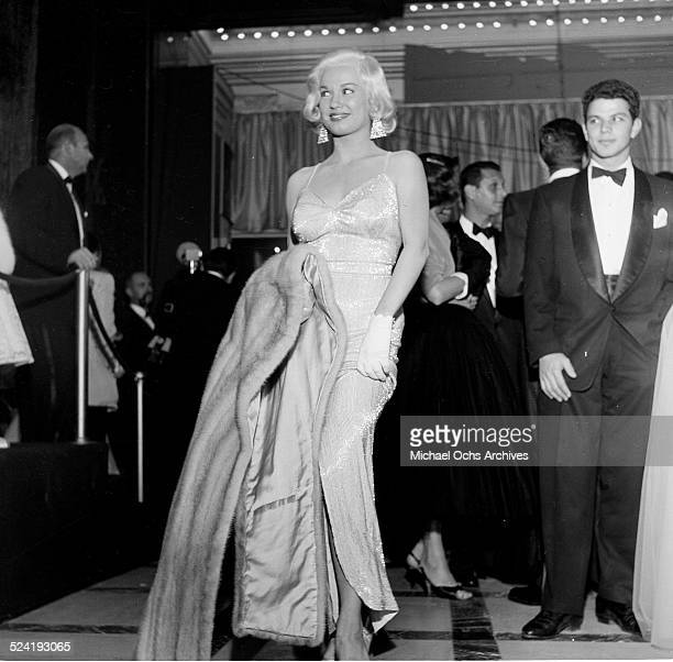 Actress Mamie Van Doren attends the movie premiere of 'A Star is Born' in Los AngelesCA