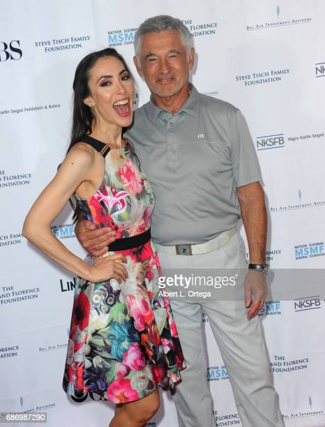 Actress Mandy Amano and founder Ron Silverman at the 5th Annual Matthew Silverman Memorial Golf Classic held at El Caballero Country Club on May 22...