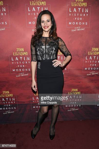 Actress Mandy Gonzalez attends 'Latin History For Morons' Broadway Opening Night at Studio 54 on November 15 2017 in New York City