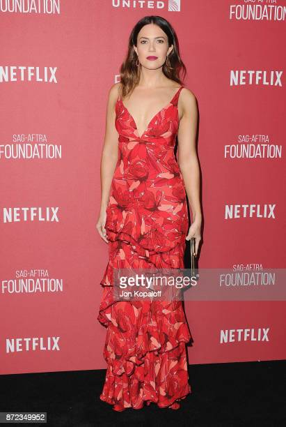 Actress Mandy Moore arrives at SAGAFTRA Foundation Patron of the Artists Awards 2017 on November 9 2017 in Beverly Hills California