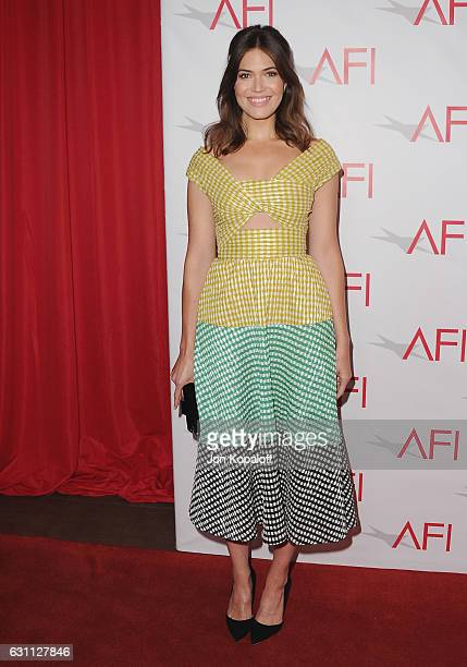 Actress Mandy Moore arrives at the 17th Annual AFI Awards at Four Seasons Hotel Los Angeles at Beverly Hills on January 6 2017 in Los Angeles...