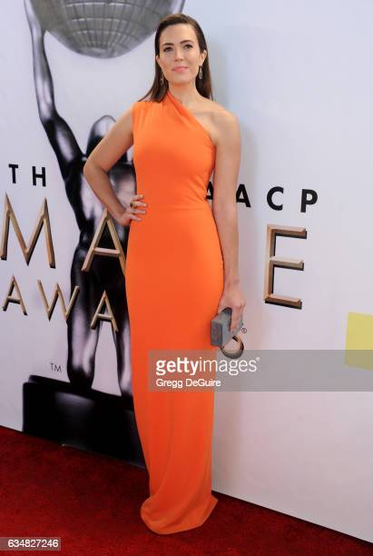 Actress Mandy Moore arrives at the 48th NAACP Image Awards at Pasadena Civic Auditorium on February 11 2017 in Pasadena California