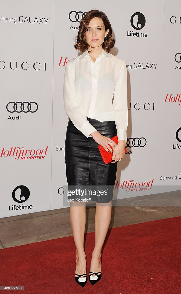 Actress Mandy Moore arrives at The Hollywood Reporter's 22nd Annual Women In Entertainment Breakfast 2013 at Beverly Hills Hotel on December 11, 2013 in Beverly Hills, California.