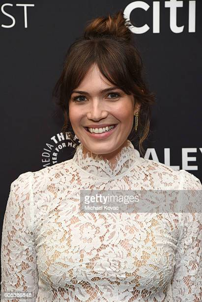 Actress Mandy Moore arrives at The Paley Center for Media's 10th Annual PaleyFest Fall TV Previews honoring NBC's This Is Us at the Paley Center for...