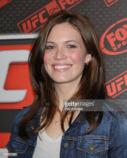 Actress Mandy Moore arrives at the UFC on FOX live Heavyweight Championship fight at Honda Center on November 12 2011 in Anaheim California