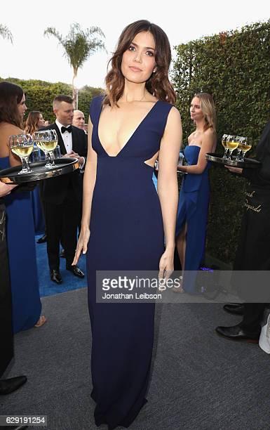 Actress Mandy Moore at the 22nd Annual Critics' Choice Awards presented by Landmark Vineyards at Barker Hangar on December 11 2016 in Santa Monica...