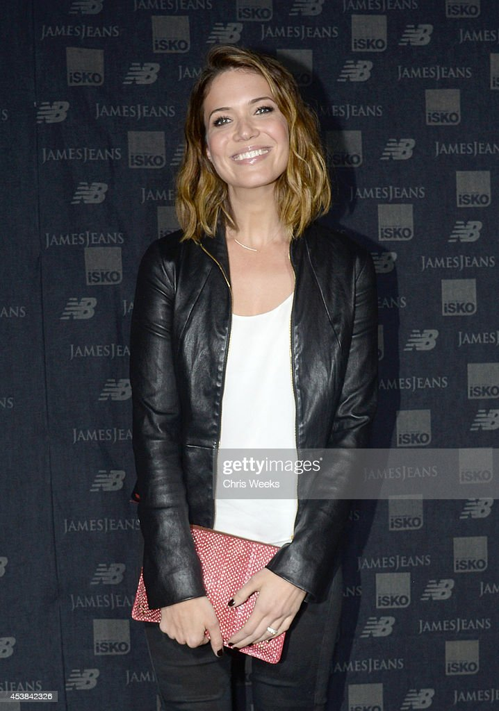 Actress Mandy Moore attends a dance party with New Balance and James Jeans powered by ISKO at the home of Pascal Mouwad on August 19, 2014 in Bel Air, California.
