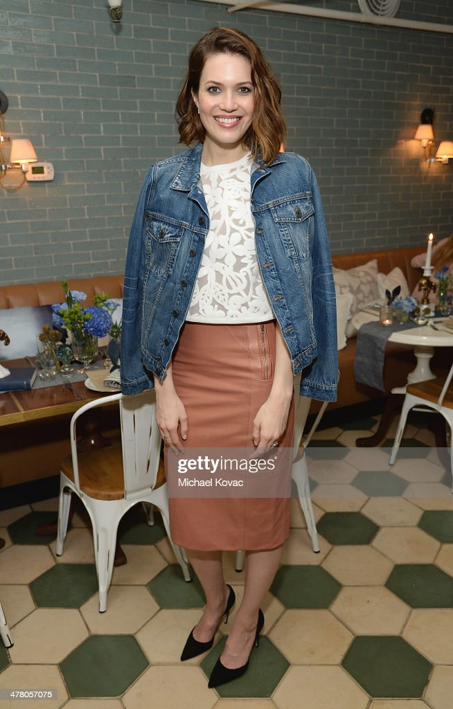 Actress Mandy Moore attends Anthropologie Celebrates A Denim Story by Emily Current, Meritt Elliott and Hilary Walsh at PaliHotel on March 11, 2014 in Los Angeles, California.