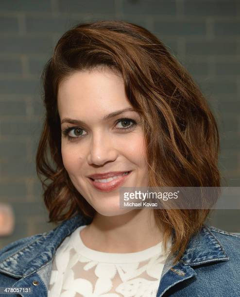 Actress Mandy Moore attends Anthropologie Celebrates A Denim Story by Emily Current Meritt Elliott and Hilary Walsh at PaliHotel on March 11 2014 in...
