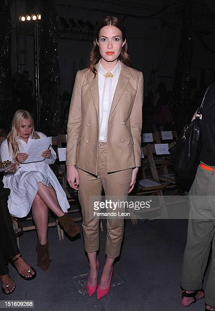 Actress Mandy Moore attends Boy and Girl by Band of Outsiders Spring at the St John's Center Studios on September 8 2012 in New York City