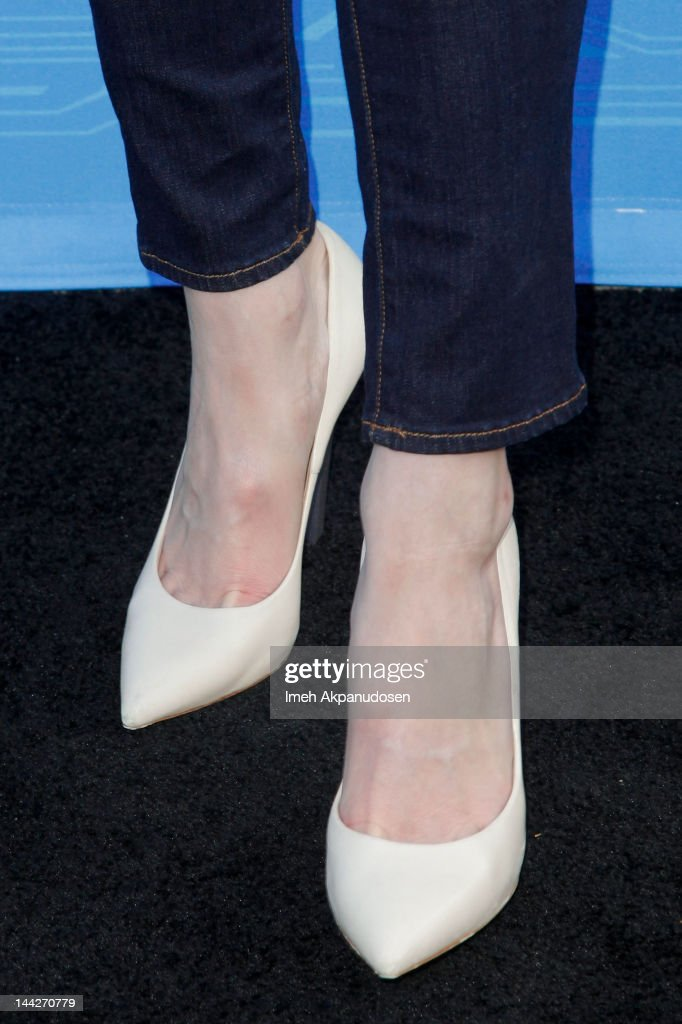 Actress Mandy Moore (shoe detail) attends Disney XD's 'TRON: Uprising' Press Event And Reception at DisneyToon Studios on May 12, 2012 in Glendale, California.