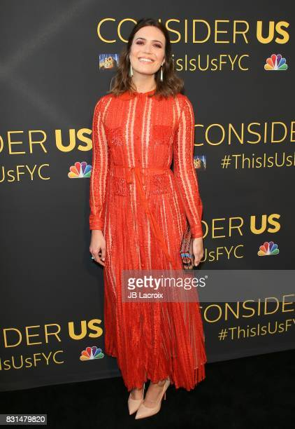 Actress Mandy Moore attends FYC Panel Event for 20th Century Fox and NBC's 'This Is Us' at Paramount Studios on August 14 2017 in Hollywood California