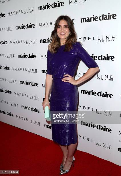 Actress Mandy Moore attends Marie Claire's 'Fresh Faces' celebration with an event sponsored by Maybelline at Doheny Room on April 21 2017 in West...