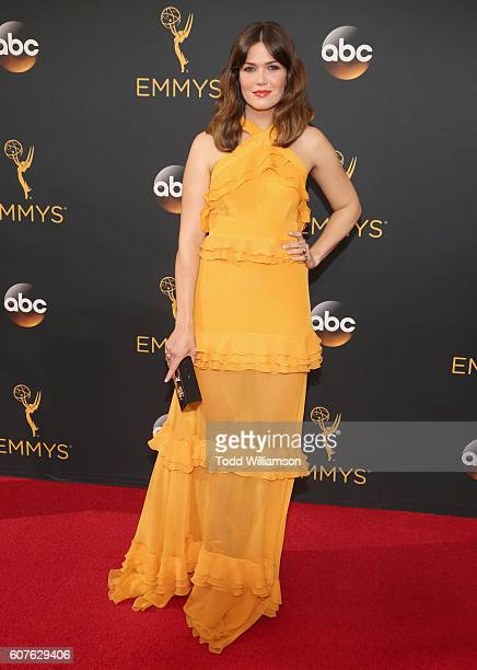 Actress Mandy Moore attends the 68th Annual Primetime Emmy Awards at Microsoft Theater on September 18 2016 in Los Angeles California