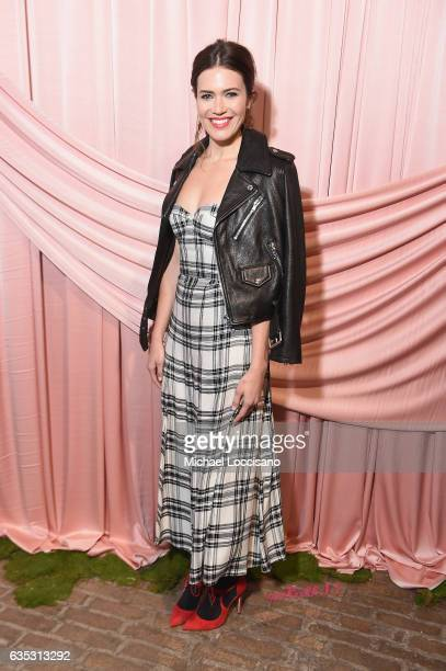 Actress Mandy Moore attends the alice olivia by Stacey Bendet Fall 2017 Presentation at Highline Stages on February 14 2017 in New York City