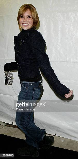 Actress Mandy Moore attends the film premiere of 'Saved' during Sundance Film Festival on January 21 2004 in Park City Utah