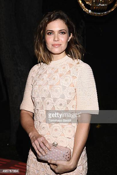 Actress Mandy Moore attends the Lela Rose Los Angeles Dinner on November 4 2015 in Los Angeles California