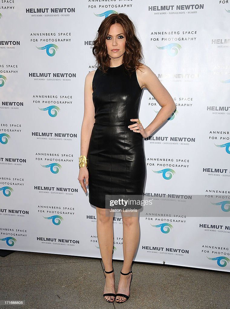 Actress <a gi-track='captionPersonalityLinkClicked' href=/galleries/search?phrase=Mandy+Moore&family=editorial&specificpeople=171637 ng-click='$event.stopPropagation()'>Mandy Moore</a> attends the opening of 'Helmut Newton: White Women - Sleepless Nights - Big Nudes' at Annenberg Space For Photography on June 27, 2013 in Century City, California.