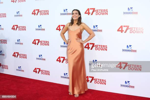 Actress Mandy Moore attends the premiere of '47 Meters Down' at The Regency Village Theatre on June 12 2017 in Westwood California