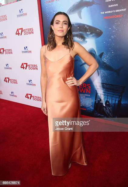 Actress Mandy Moore attends the Premiere of Dimension Films' '47 Meters Down' at the Regency Village Theatre on June 12 2017 in Westwood California