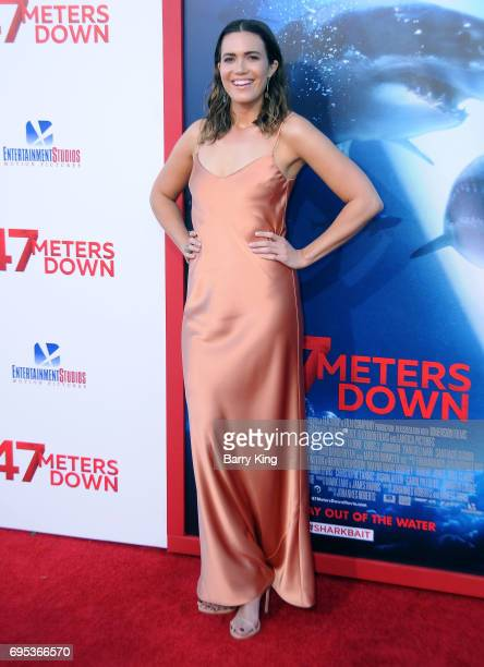 Actress Mandy Moore attends the Premiere of Dinemsion Films' '47 Meters Down' at Regency Village Theatre on June 12 2017 in Westwood California