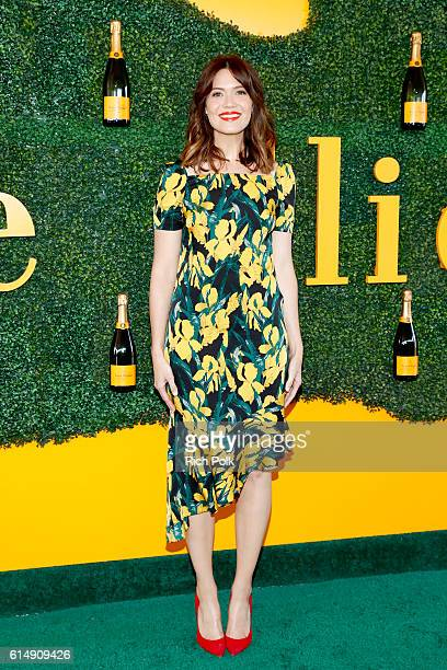 Actress Mandy Moore attends the Seventh Annual Veuve Clicquot Polo Classic Los Angeles at Will Rogers State Historic Park on October 15 2016 in...