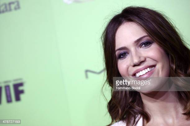Actress Mandy Moore attends the Women In Film PreOscar cocktail party presented by PerrierJouet MAC MaxMara held at Fig Olive Melrose Place on...