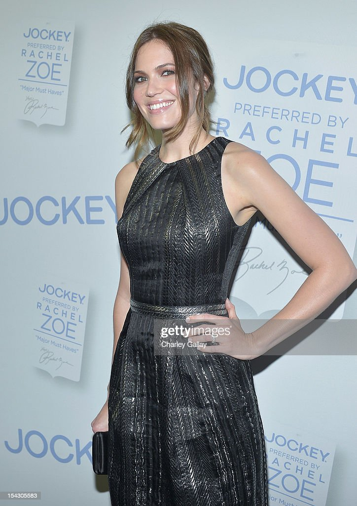 Actress <a gi-track='captionPersonalityLinkClicked' href=/galleries/search?phrase=Mandy+Moore+-+Singer+and+Actress&family=editorial&specificpeople=171637 ng-click='$event.stopPropagation()'>Mandy Moore</a> celebrates the launch of Rachel ZoeÕs ÒMajor Must HavesÓ from Jockey at Sunset Tower on October 17, 2012 in West Hollywood, California.