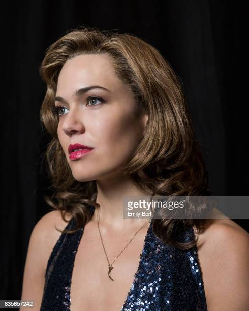 Actress Mandy Moore is photographed on the set of NBC's 'This Is Us' for New York Times on February 3 2017 in Los Angeles California