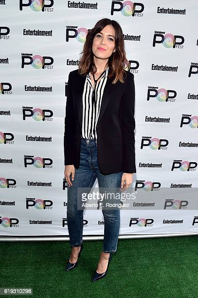 Actress Mandy Moore poses backstage during Entertainment Weekly's PopFest at The Reef on October 30 2016 in Los Angeles California