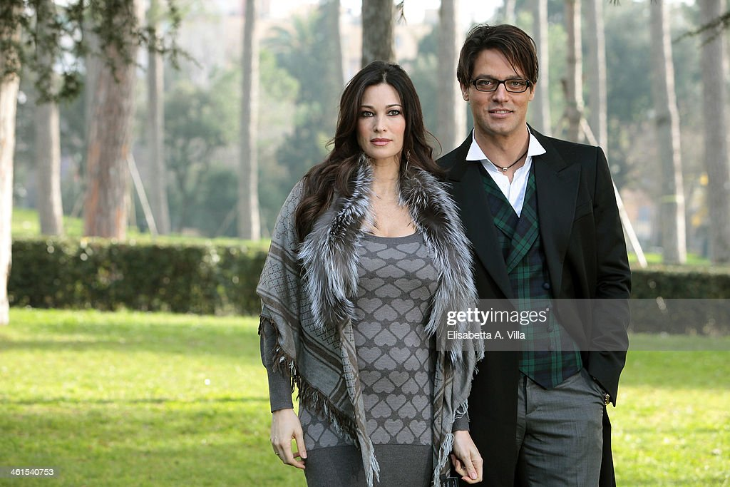 Actress Manuela Arcuri and actor <a gi-track='captionPersonalityLinkClicked' href=/galleries/search?phrase=Gabriel+Garko&family=editorial&specificpeople=4811088 ng-click='$event.stopPropagation()'>Gabriel Garko</a> attend 'Il Peccato e La Vergogna 2' photocall at Villa Borghese on January 9, 2014 in Rome, Italy.
