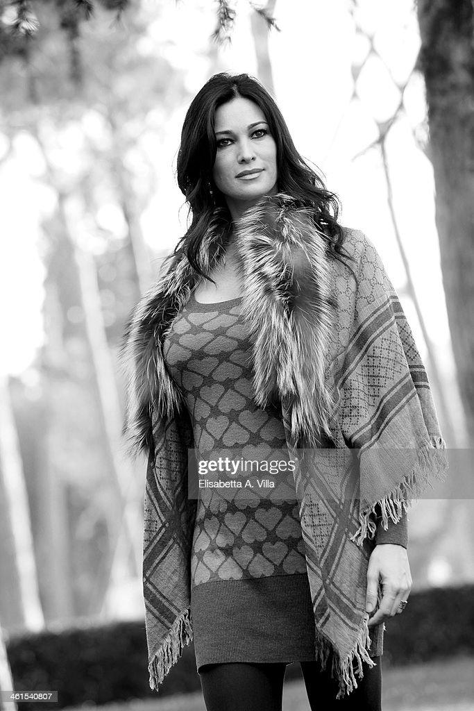 Actress Manuela Arcuri attends 'Il Peccato e La Vergogna 2' photocall at Villa Borghese on January 9, 2014 in Rome, Italy.