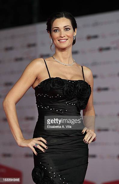 Actress Manuela Arcuri attends 'Pupetta Una Storia Italiana' premiere during the 2012 RomaFictionFest at Auditorium Parco della Musica on October 4...