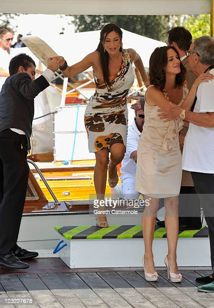Actress Manuela Arcuri attends the 68th Venice Film Festival on September 1 2011 in Venice Italy