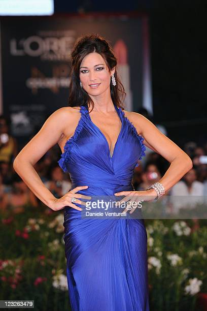 Actress Manuela Arcuri attends the 'Carnage' premiere during the 68th Venice International Film Festival at Palazzo del Cinema on September 1 2011 in...