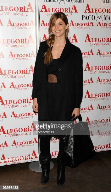 Actress Manuela Velasco arrives to Concha Velasco 70th birthday party at Alegoria Club on November 24 2009 in Madrid Spain
